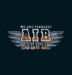 air club emblem vector image
