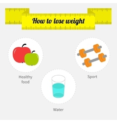 Weight loss infographic diet fitness drinking vector
