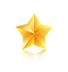 3d golden star isolated on white background vector image vector image