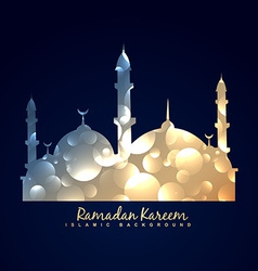 Shiny mosque design background vector