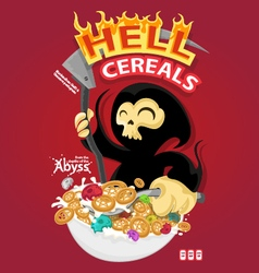 Hell cereals vector