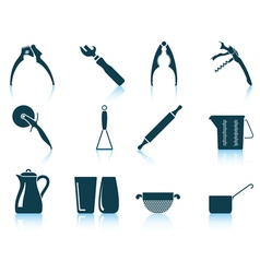 Set of utensil icons vector