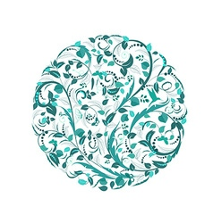 Abstract circular pattern of floral vector