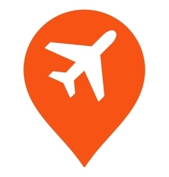 Airport map marker icon vector