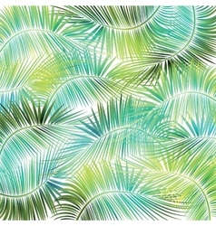 Palm tree branches on white background vector