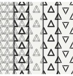 Set of geometric line monochrome abstract hipster vector