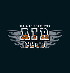 air club emblem vector image