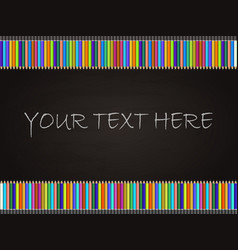 blackboard background with colored pencil vector image vector image