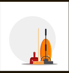 cleaning service set house cleaning tools with vector image