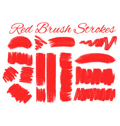 Different strokes in red color vector