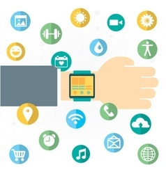 Digital watch with the simmilar smartphones vector image vector image