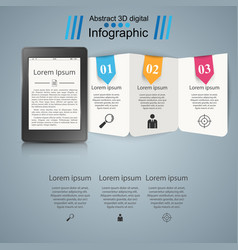 Ebook book reader - business infographic vector