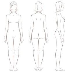 Female silhouette vector