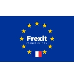 Flag of France on European Union Frexit - France vector image vector image
