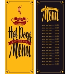 for fast food with hot dog vector image vector image