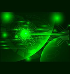 Green technology background abstract digital tech vector