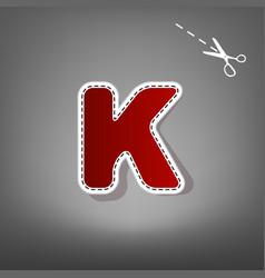 Letter k sign design template element red vector