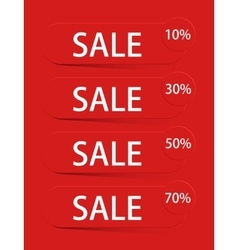 modern sale discount set vector image vector image
