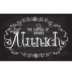 Munich logotype vector image