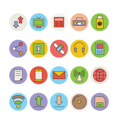 Networking and communication icons 1 vector