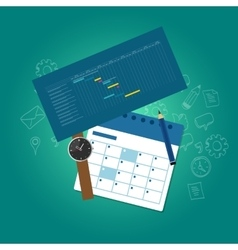 Planning and scheduling time calendar timeline vector