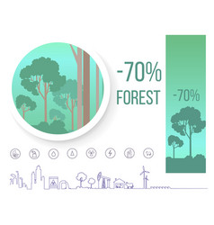 poster devoted problem of deforestation on earth vector image vector image
