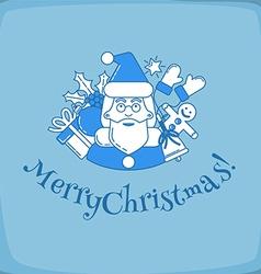 Santa Claus postcard vector image vector image