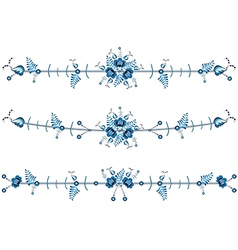 set of floral vignettes vector image vector image