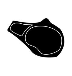 steak the black color icon vector image vector image