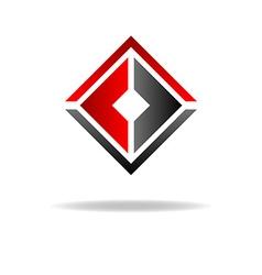 Two C - letter logo geometric shape vector image