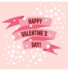 Valentines day ribbon label vector