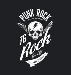 Vintage punk rock t-shirt logo vector