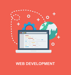 web development concept design vector image
