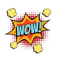 wow comic word vector image
