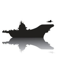 Aircraft carrier vector