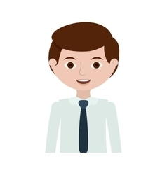 Half body man with formal shirt vector
