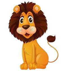 A young lion vector image