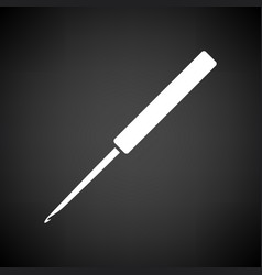 crochet hook icon vector image