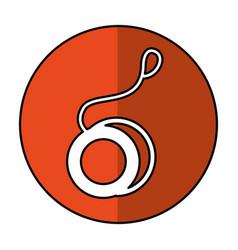 yoyo toy isolated icon vector image
