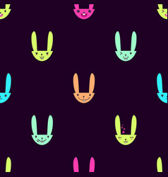 Rabbit emoticons pattern-16 vector