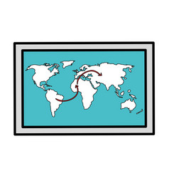 world map paper isolated icon vector image