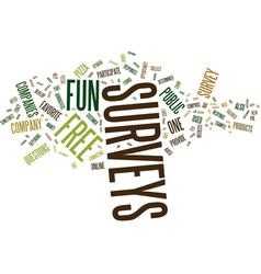 Free fun surveys text background word cloud vector