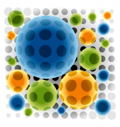 Color spheres vector