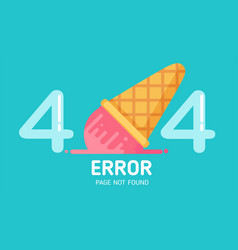 404 ice-cream fall error page not found pastel vector image vector image