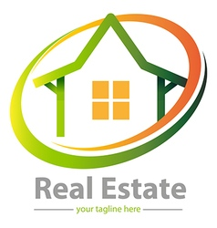 Real estate logo or symbol vector