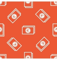 Orange euro bill pattern vector