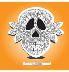Dead skull - helloween card vector