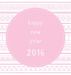 Happy new year 2016 greeting card8 vector