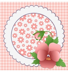 Cute template for Mothers Day vector image