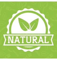 Leaf icon natural and organic product vector
